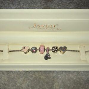Jared Pandora Bracelet with charms